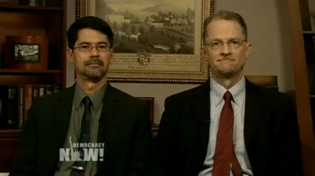 Stuart Gaffney and John Lewis speaking on Democracy Now 26 March 2013