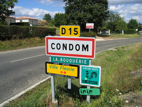 A town called Condom in France